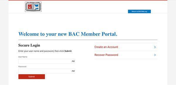 BAC Member Portal